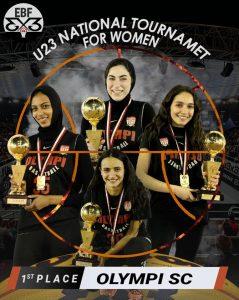 سيدات الأوليمبي تحصل على ذهبية أول دوري 3×3