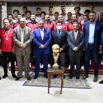 تكريم معالي وزير الشباب والرياضة لمنتخبي مصر تحت ١٦ سنة ناشئين ناشئات بعد الفوز بكأس افريقيا والتأهل لكأس العالم ٢٠٢٢