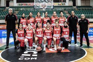 عودة منتخب السيدات الى القاهرة بعد الانتهاء من بطولة الافروباسكت